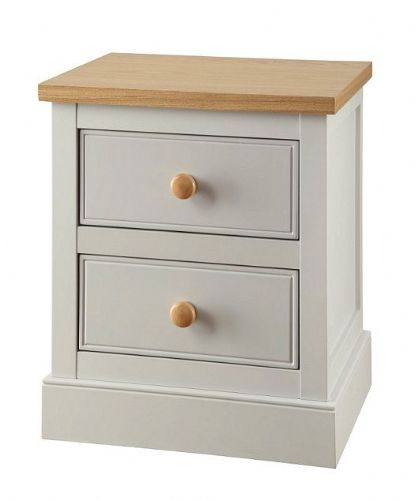 Toulouse Grey 2 Drawer Bedside